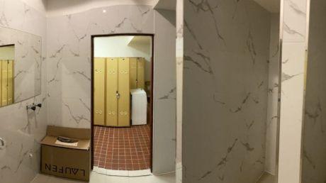 Nové koupelny pro zaměstnance